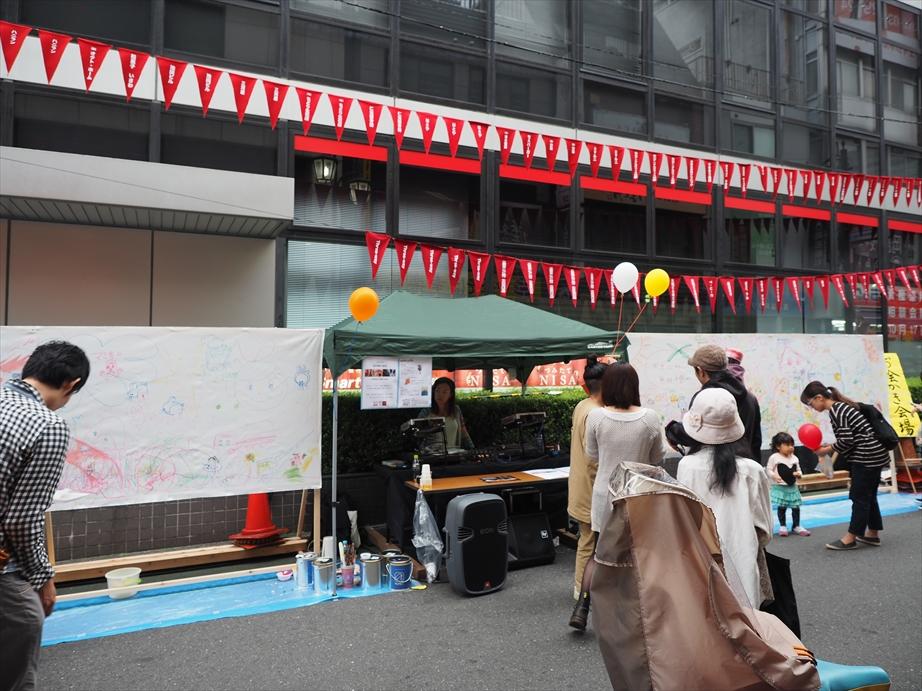 中野南口わいわい祭りのDJブース