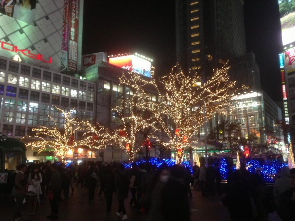12月の渋谷駅前イルミネーション