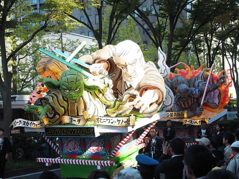 川崎ハロウィンスターウォーズパレードのねぷた2