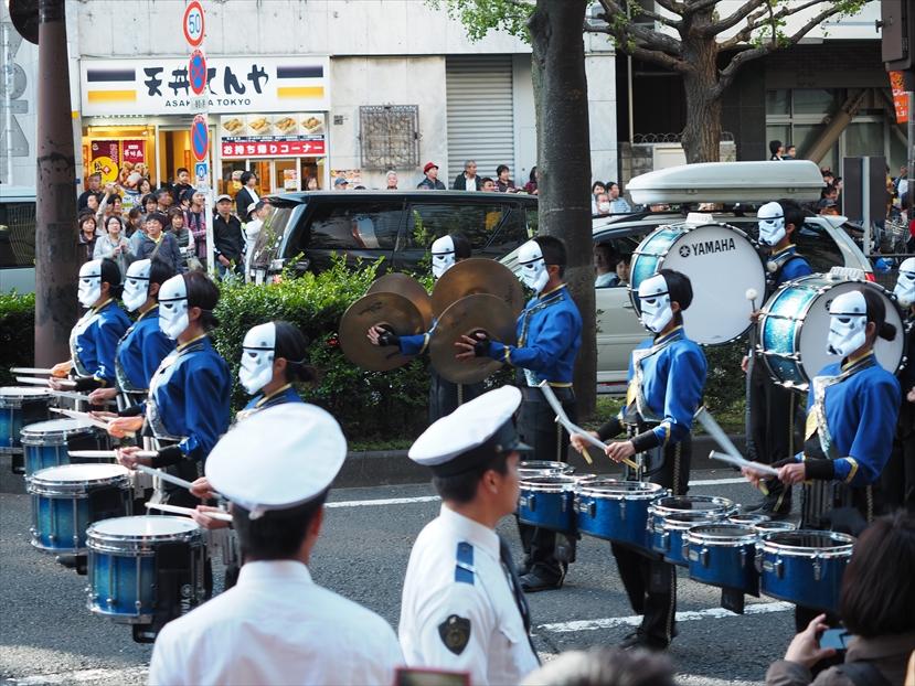 川崎ハロウィンスターウォーズパレードの鼓笛隊