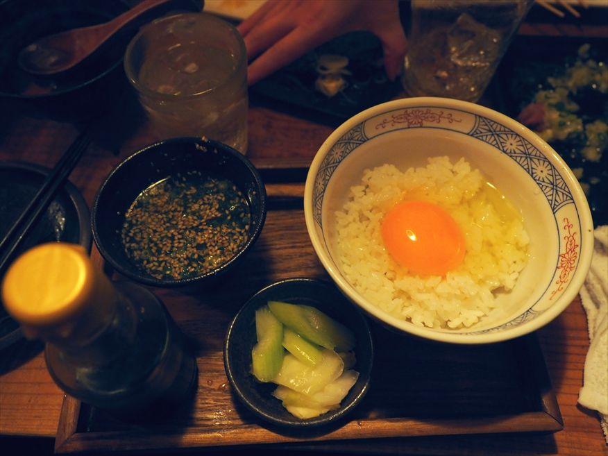 ジョウモン渋谷店の卵かけごはん