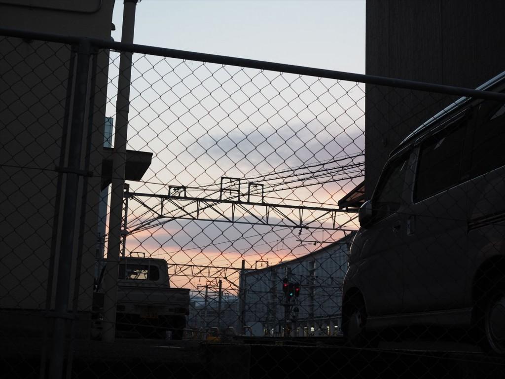 朝焼けの京都駅