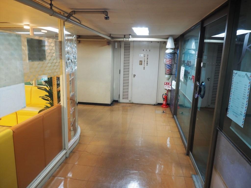 京都タワーの地下に降りて角を曲がると。