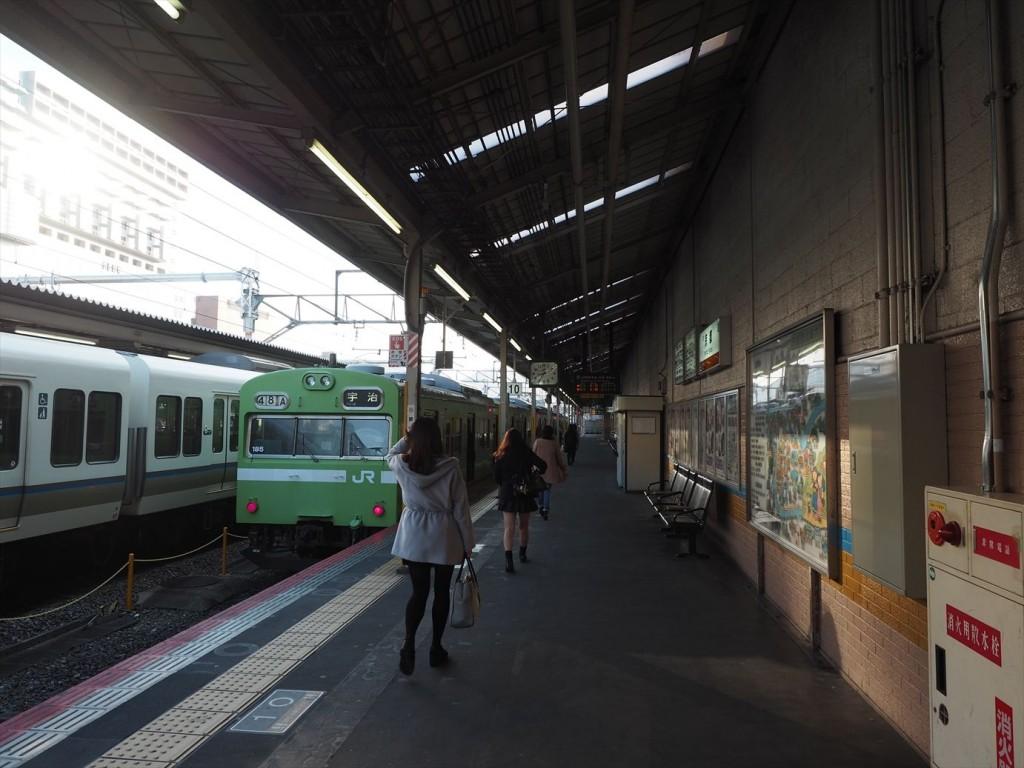 JR京都駅の奈良線ホーム