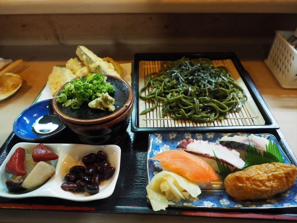天ぷら茶そばセット