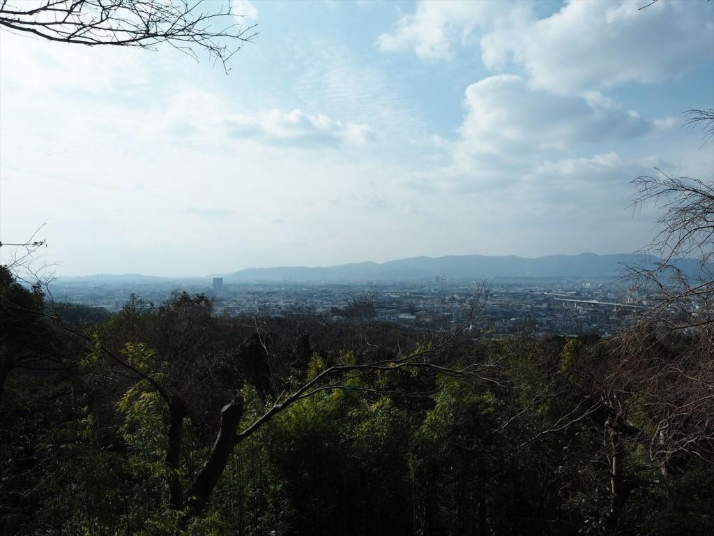 伏見稲荷の三徳亭そばからの眺め