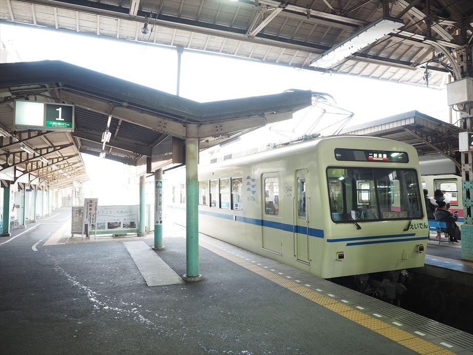叡山電車の出町柳駅の中