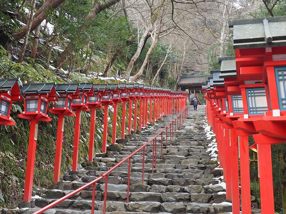 貴船神社の階段3