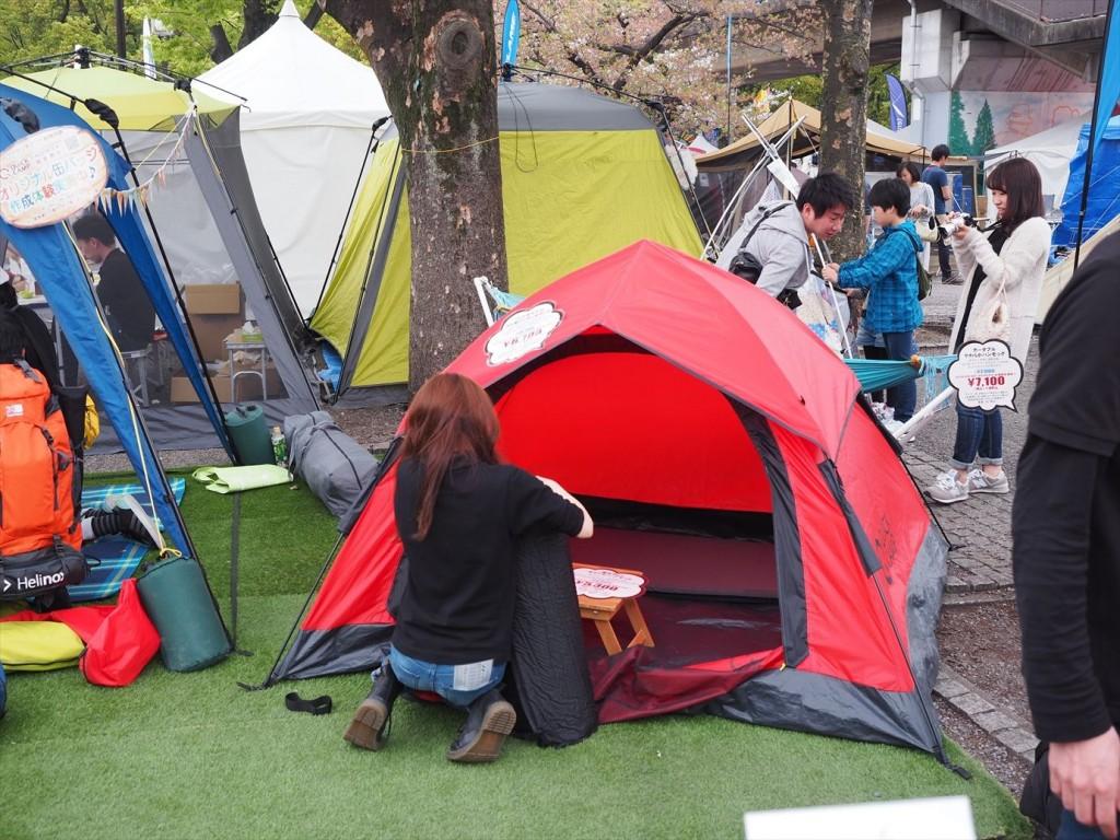 ワンタッチテントは2~3人用でちょうどいいサイズ