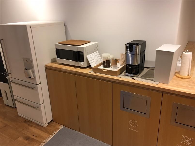 コーヒーや電子レンジに冷蔵庫