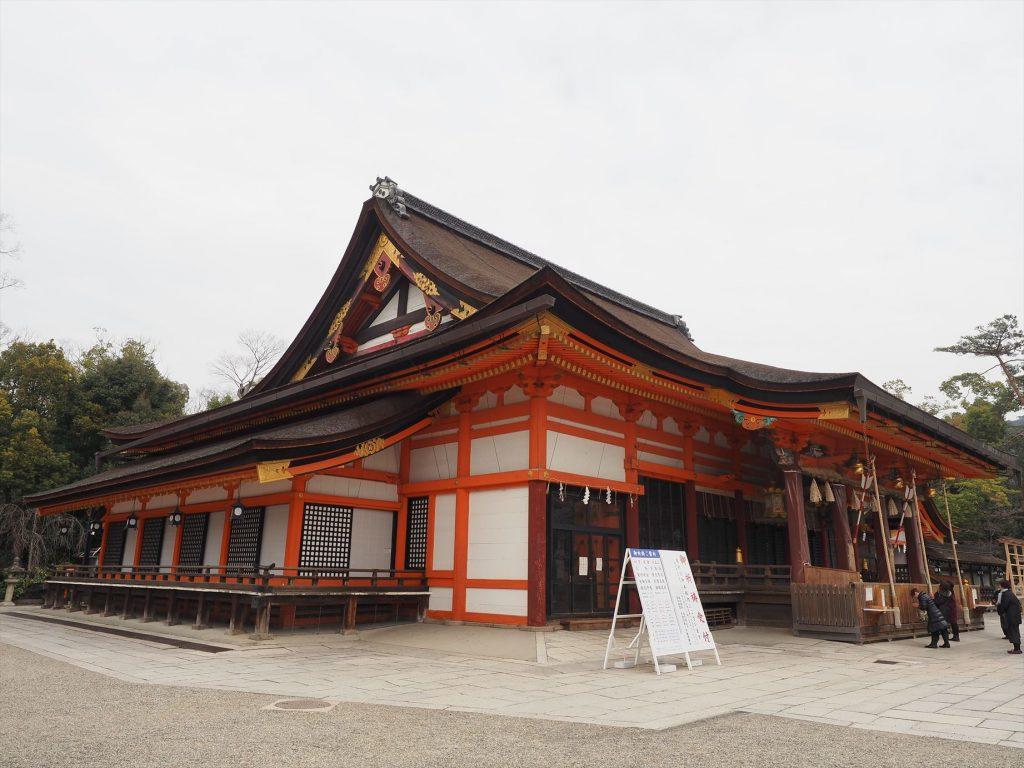 八坂神社の中