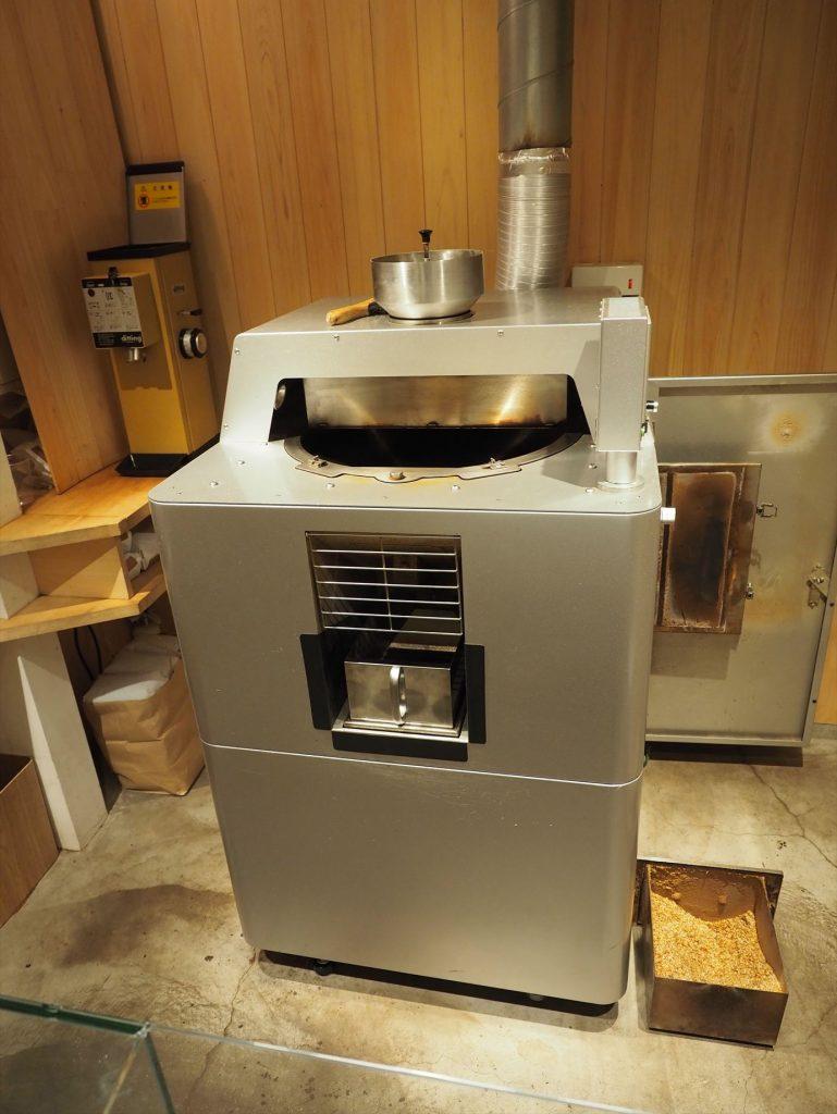 アラビカ京都の豆の焙煎機