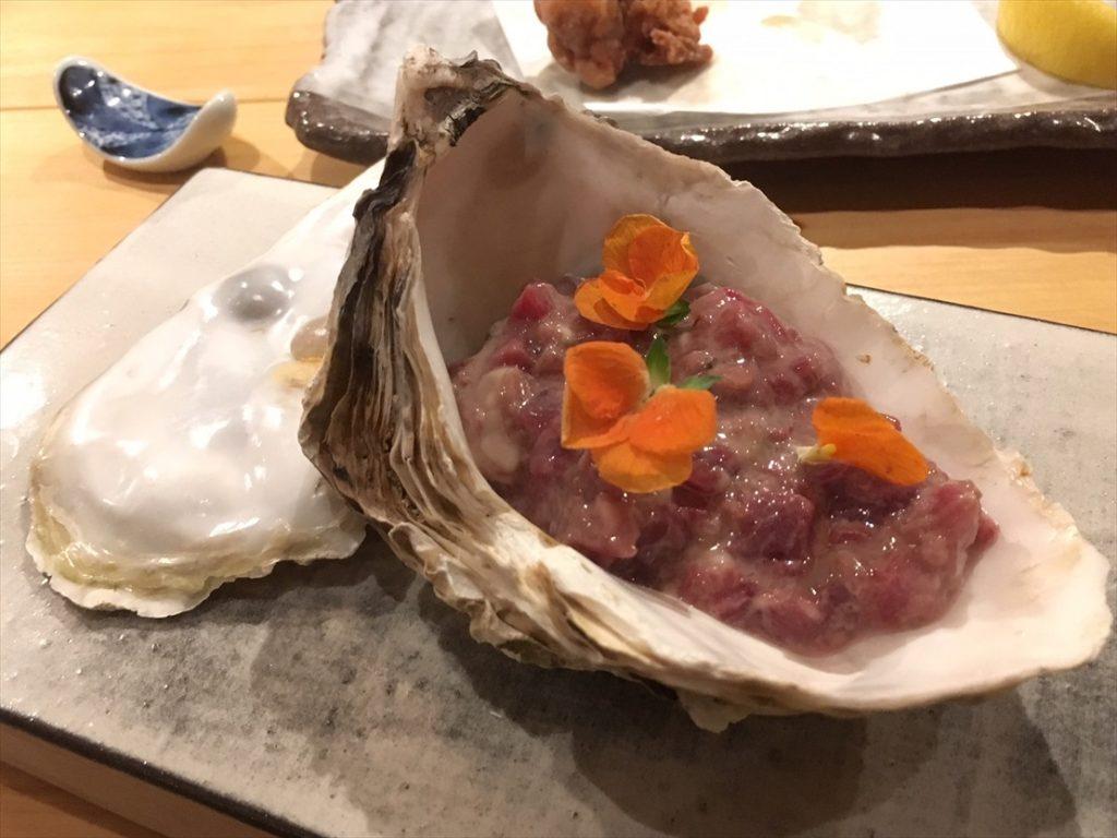 牡蠣と馬肉のタルタル